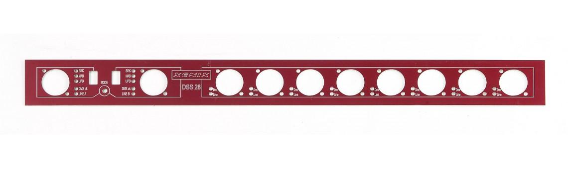 Металлическая приборная панель с фрезеровкой, толщина 1 мм